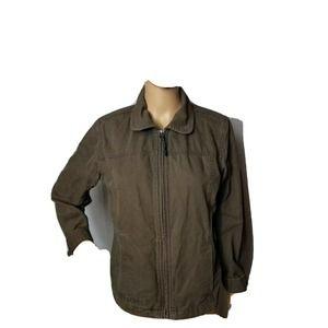 Columbia Sportswear Jacket Khaki Canvas Small